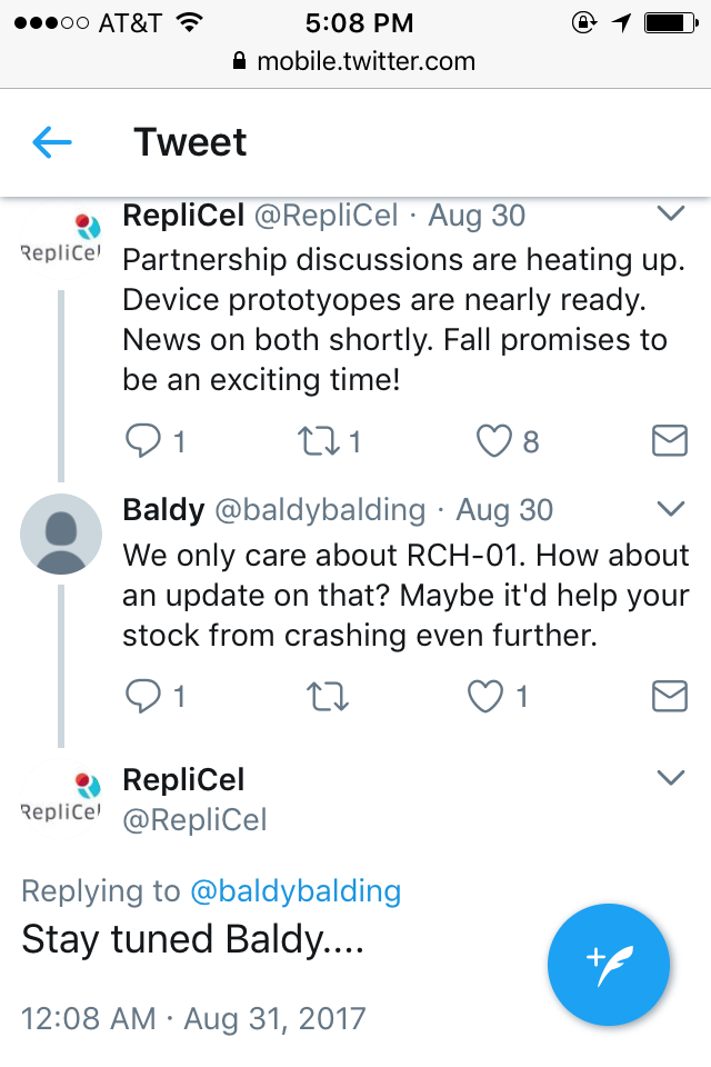 Replicel Is On Fire Lately — Data In Feb  | Page 86