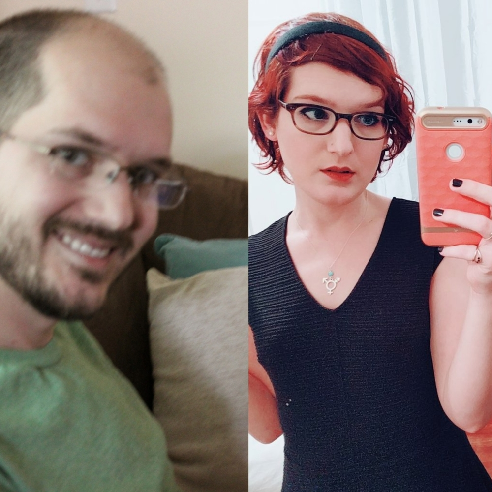 Transvestite transitional hair