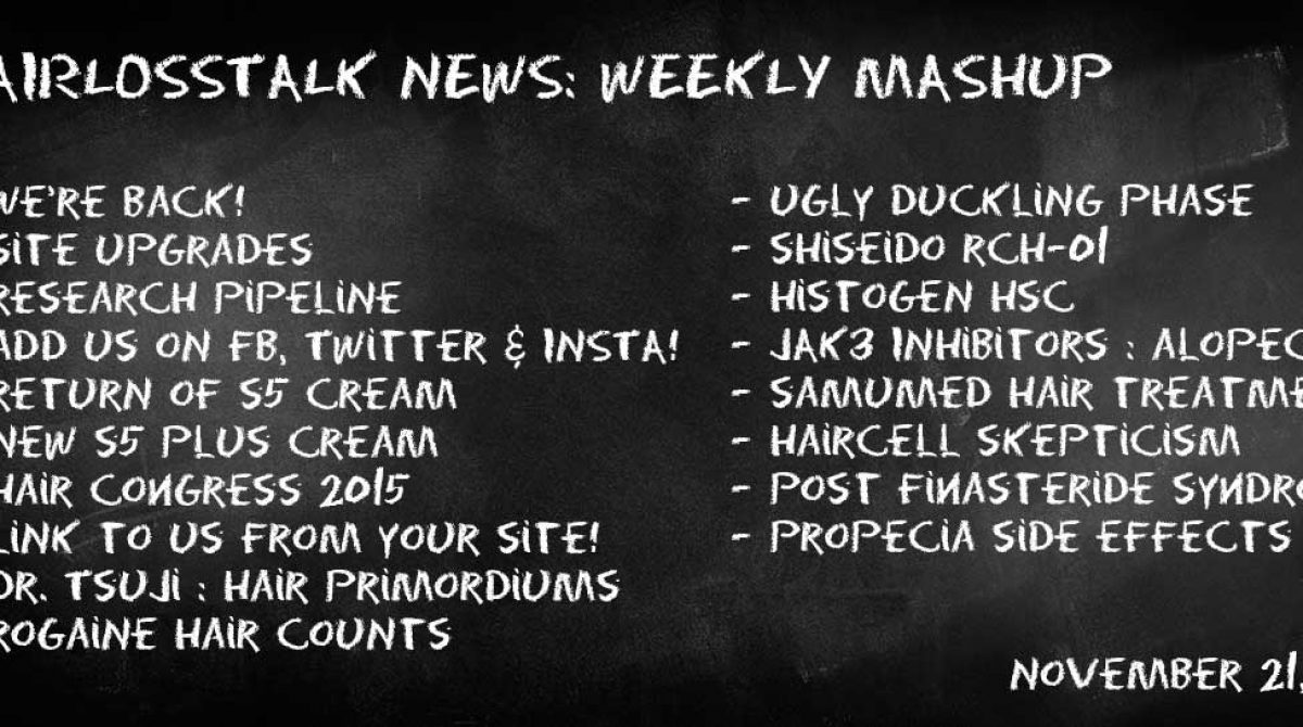 HairLossTalk Weekly Mashup | November 21 2016