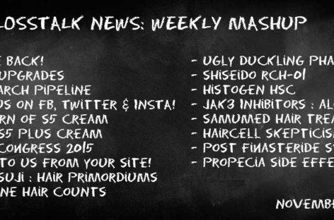 HairLossTalk Weekly Mashup | November 21 2016